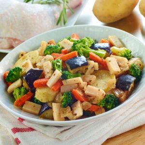 Salteado de pollo con verduras 500 grs
