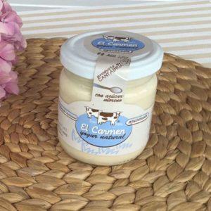 Yogurt natural con azucar moreno El Carmen 200 grs