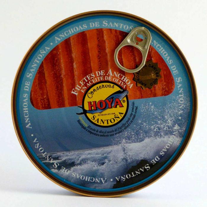 Pandereta de anchoas Hoya