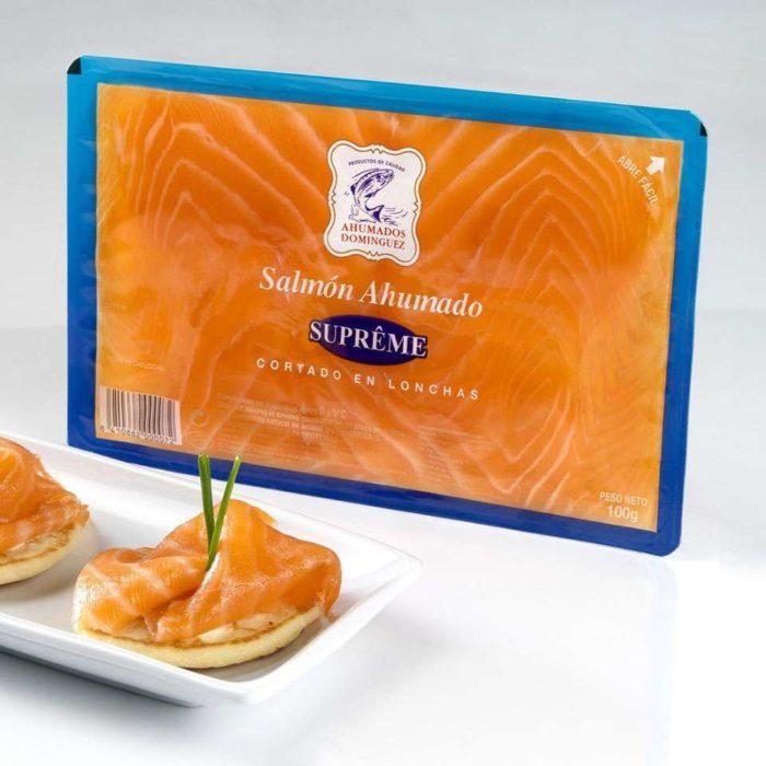 Sobre de salmón ahumado Dominguez