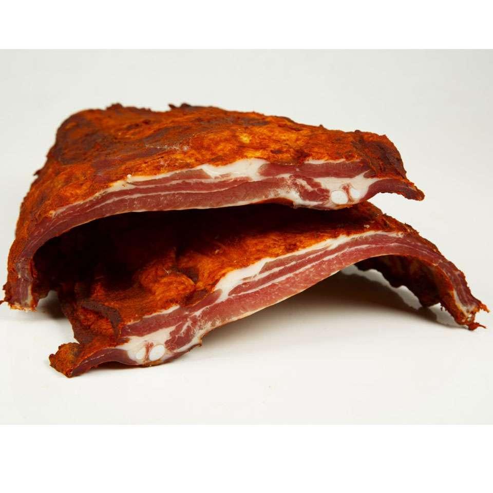 Costilla de cerdo adobada curada