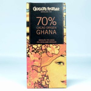 Tableta de chocolate Amatller Ghana 70% cacao 70 grs