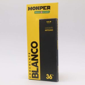 Chocolate blanco Monper 36% cacao tableta 85 grs